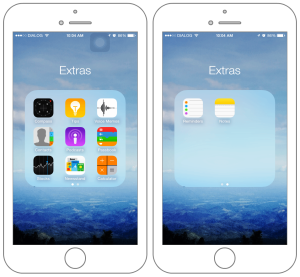 Inbuilt apps on iPhone 6