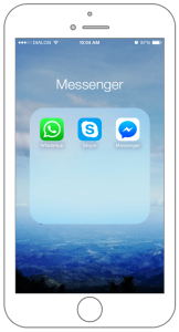 Messaging apps used in iPhone 6