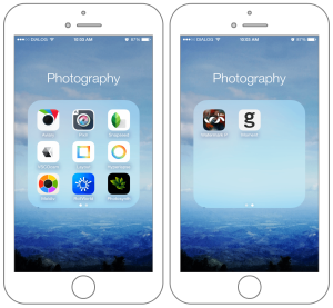 Mobile photography apps on iPhone 6