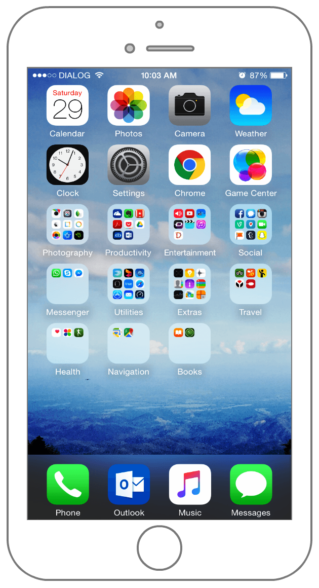 iphone home screen what s on my iphone get a personal look at my iphone 6 1313