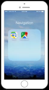 Maps folder in iPhone 6