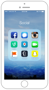 Most used social apps for iPhone